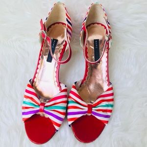 Marc Jacobs Bright Candy Stripe Heels Pumps Size 9